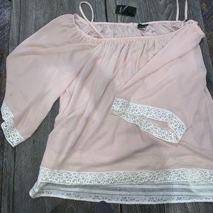 Blush pink Torrid blouse size 4